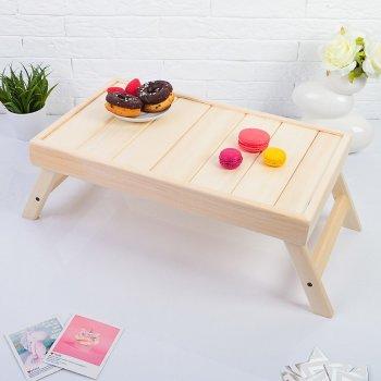 Жёлтый столик для завтрака в постели