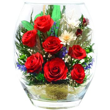 Розы в стекле ERR-01 (22,5 см)