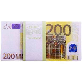 """Сувенирная пачка денег """"200 евро"""""""
