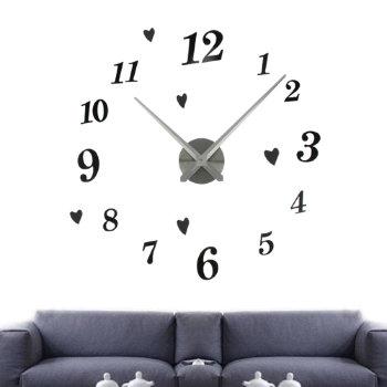 """Настенные часы-наклейка """"Цифры с сердечками"""""""