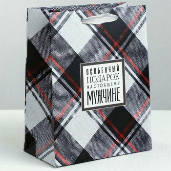 "Подарочный пакет ""Особенный подарок мужчине"" (30 х 26 х 9 см)"