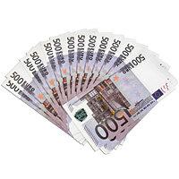 "Забавная пачка денег ""500 евро"""