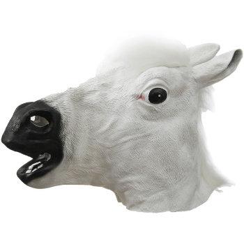 """Карнавальная маска """"Лошадь"""" белого цвета"""