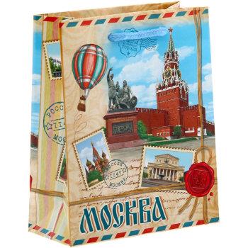 "Подарочный пакет ""Посылка из Москвы"" (23 х 18 х 8 см)"