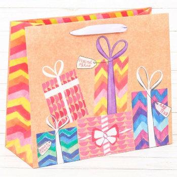 """Подарочный пакет """"Много подарков"""" (40 х 31 х 9 см)"""