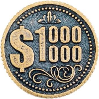 "Монета ""Миллион долларов"" (2,6 см)"