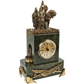 """Настольные часы """"Сыны Отечества"""" с механизмом Hermle (28,5 см)"""