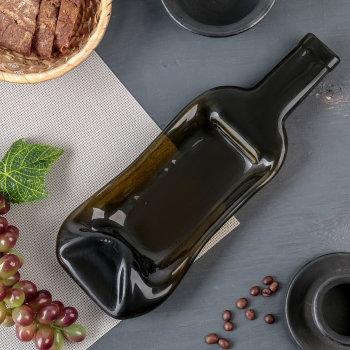 """Блюдо для подачи """"Расплавленная бутылка"""" (30 х 15,5 х 4,5 см)"""