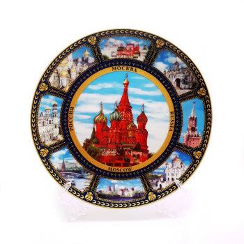 """Сувенирная тарелка """"Московские виды"""" (20 см)"""