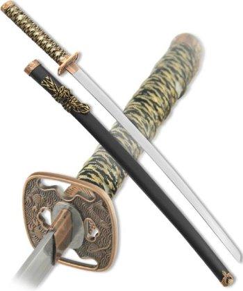 Японский меч-катана с чёрными ножнами (102 см, подставка в подарок)