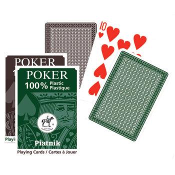 """Пластиковые игральные карты """"Poker 100% Plastic"""" (Piatnik, 55 карт)"""