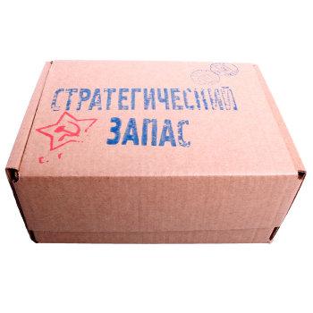 "Подарочная крафт-коробка ""Стратегический запас"" (24 х 17 х 11 см)"
