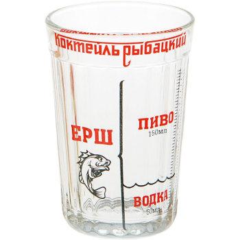"""Гранёный стакан """"Коктейль """"Рыбацкий"""""""" (270 мл)"""