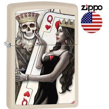 Зажигалка Zippo 29393 King, Skull, Queen Beauty