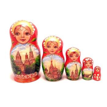 "Матрёшка ""Московские башни"" (5 мест, 12 см)"