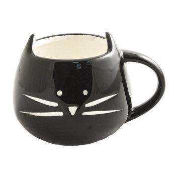 """Кружка """"Чёрный котик с ушками"""" (300 мл)"""