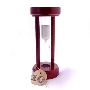 """Песочные часы """"Колонна"""" на 10 минут в деревянном корпусе"""
