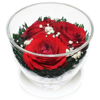 Розы в стекле CuSr3 (8,5 см)
