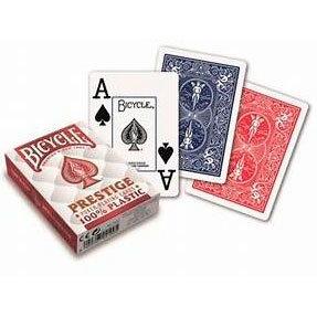 """Пластиковые игральные карты """"Bicycle Prestige"""" (USPCC, 54 карты)"""