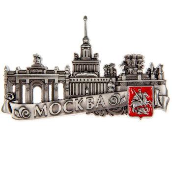 """Рельефный магнит """"Достопримечательности Москвы"""""""